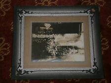 Vintage POST MORTEM Funeral Casket Photo YOUNG WOMAN Mourning Frame