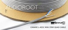 Bulk 10 feet of CANARE L-4E5C GREY Miniature Star Quad Microphone Cable