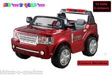 4X4 JEEP voiture électrique enfant - 2 TRÈS GRANDES PLACES XL - Rouge métallisé