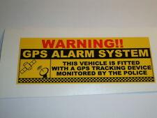 4  x  GPS  ALARM WARNING  VINYL STICKERS  POLICE TRACKING   FARM VEHICLES QUADS