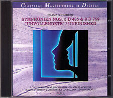 Schubert sinfonia no. 5 & 8 incompiuta Unfinished Nanut Blackside cd sinfonie