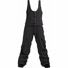 B by Burton Executive Bib Pants Women's Snowboard Waterproof Overalls Grey XS