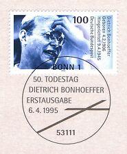 BRD 1995: Dietrich Bonhoeffer Nr. 1788 mit dem Bonner Ersttagssonderstempel! 1A!