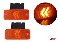 2x LED Side Arrow Marker Lights W/ Brackets Lorry Caravan Tipper Camper Bus 12v