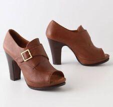 ANTHROPOLOGIE COCODRILO HEELS 8 Open Toe Booties CHIE MIHARA ENARA Platform Shoe