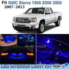 For 2007-2013 GMC Sierra 1500 2500 3500 Brilliant Blue LED Interior Lights Kit