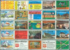 25 alte Gasthaus-Streichholzetiketten aus Deutschland #892