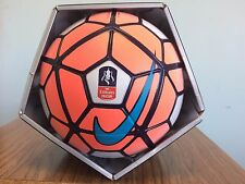 SOCCER-NIKE ORDEM-OFFICIAL MATCH BALL-SIZE 5-WHITE/ORANGE IN COLOR-NEW-IN BOX-