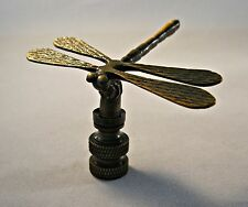 Lamp Finial-DRAGONFLY-Aged Brass Finish, Highly detailed metal casting