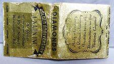 RARE 40s A KAHN INC JEWELRY 50 YEAR GOLDEN ANNIVERSARY WASHINGTON DC MATCHBOOK