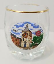 Vintage Gold Trimmed Lier, Belgium, also known as the Cornelius tower Shot Glass