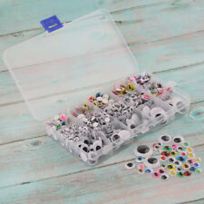 1100pcs 5-25mm Wiggly Googly Eyes 7 Sizes 4 Types for DIY Scrapbooking Craft