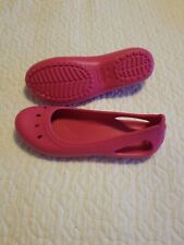 New Crocs Unisex sling backs, Fuchsia Pink, Junior's Size 5