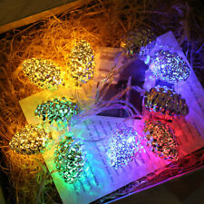 1.5/3m 20 LED Pine Cone String Light Lamp  Wedding Party Decoration