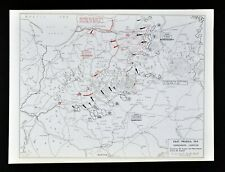 West Point WWI Map Prussia Battle of Tannenberg Campaign Germany Russia Troops