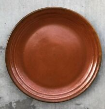 """Orange Large Dinner Plate / Charger / Platter / Candle Dish Hand Made? 13.75"""""""