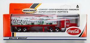 2002 Matchbox Convoy Peterbilt Conventional Cab RED / COCA-COLA