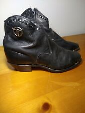 Capezio Womens Western Steer Silver Tip Ankle Boots Size US 8.5M