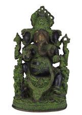 Ganesha Gott Gottheit Figur Statue Bronze Yoga Meditation Ayurveda