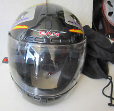 Can Model 603 Size M DOT Motorcycle Helmet W/Visor & Carry Bag – Deck Of Cards