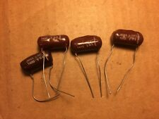 4 Nos Brown Drop .0082 uf 1600v Capacitors Vintage Ge Guitar Amp Tone Caps