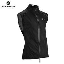RockBros Cycling Vest Wind Vest Windvest,Sleeveless Sportswear Black