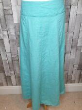 Ladies Laura Ashley Turquoise Green Blue Linen Maxi Skirt Boho Hippy Size Uk 12