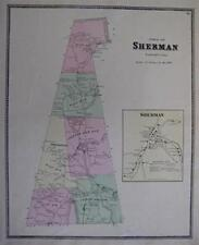 1867 School District Map SHERMAN Fairfield County Conn