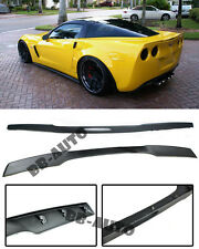 For 05-13 Corvette C6 ZR1 ABS Plastic Matte Black Rear Trunk Lip Spoiler Wing