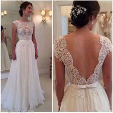 White/Ivory NEW Bridal Gown Wedding Dress Custom Size 2 4 6 8 10 12 14 16 18+++