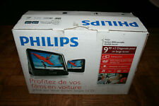 "Portable Dvd Player Philips Playback Audio Video Dual Screens 9"" for Car Travel"