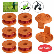 For Worx Wa0010 Replacement Spool Line Grass Trimmer Edger 10ft 6Pack W/2 Spools