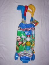 DISNEY STORE MICKEY MOUSE CHILD'S TOY GOLF SET WITH CART/TROLLEY AGE 3+ NEW W/T
