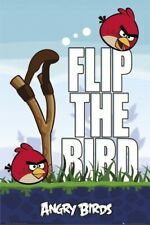 ANGRY BIRDS POSTER ~ FLIP THE BIRD 24x36 iphone App Game Video