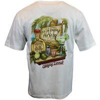 Happy Hour Men's T-shirt Cantina Tequila El Capitan Bahama Beach Newport Blue