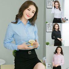 Moderno Mujer Formal Con Botones camisa OL mujer manga larga camiseta blusa