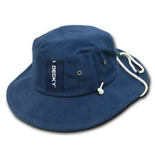 Navy Blue Aussie Boonie Safari Bucket Fishing Outback Drawstring Hat Hats L/XL