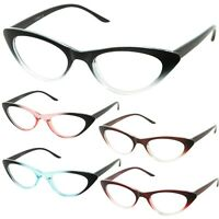 Women Cat Eye Thin Twirl Clear Lens Glasses Retro Classic Style Vintage Frame