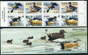 Finland-Aland 185e booklet of 2 blocks/4,MNH. WWF 2001.Polysticta stelleri