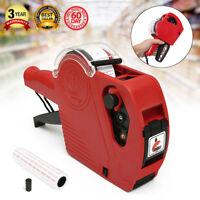 Price Tag Gun Machine + 5000 labels + 1 Ink Roller Set MX-5500 EOS 8 Digits US