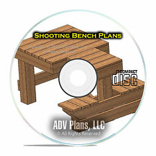 Custom Shooting Bench Plans, Learn How to Build Your Own Bench, Easy, PDF CD E51