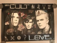 Cult Poster Promo, Love, Sire Records 1985, Rolled, 23x33, imperfect