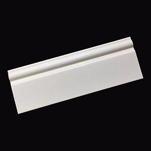 White PVC Taurus Skirting Board Plastic 95mm x 2.5m Bathroom & Cladding Trim