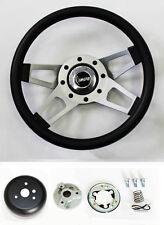"1969-1994 Camaro Grant Black 4 Spoke Steering Wheel 13 1/2"""