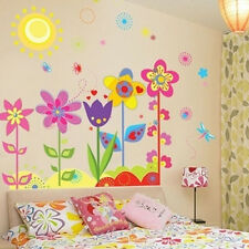 Kid Room Decor Flowers Sunshine Removable Wall Sticker Decal Wall Toddler
