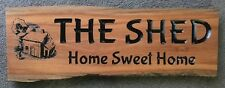 Personalised Ironbark Hardwood Slab Timber Sign 650mm Long