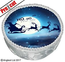 """PRE-CUT CHRISTMAS CAKE C II. TOPPER 7"""" /18CM EDIBLE WAFER PAPER PARTY DECORATION"""