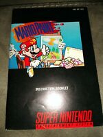 Mario Paint Super Nintendo/SNES Instruction Booklet Manual Only