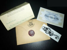 HOT !HARRY POTTER HOGWARTS ACCEPTANCE LETTER PERSONALISED + FREE TICKETS+TATTOO
