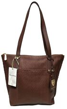 NWT Tommy Bahama Lido Key Top Zip Leather Tote, Brown, MSRP: $248.00